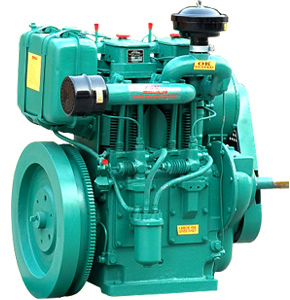 TWO CYCLINDER ELECTRIC START AXIAL / AIR COLLED DIESEL ENGINE